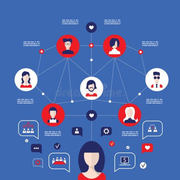 Social Network Concept Global Communication Infographic