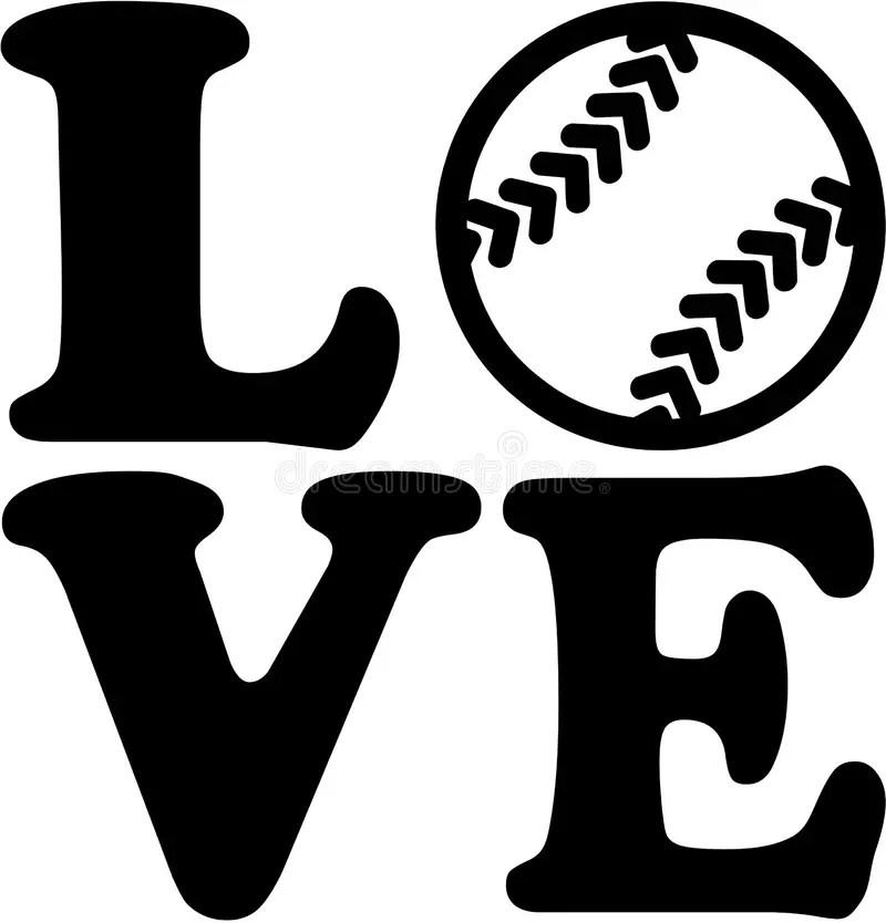 Download Softball love stock vector. Illustration of ball, softball ...