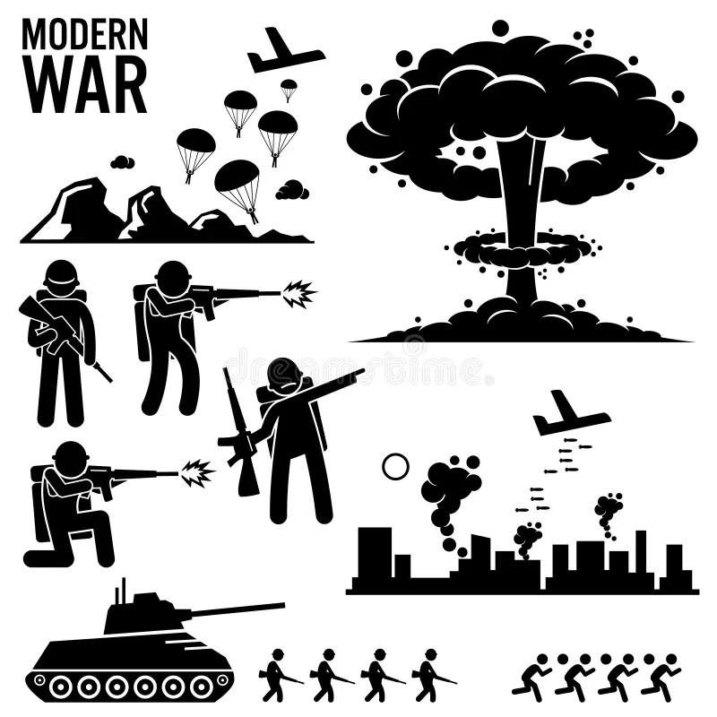 Soldat Moderne Tank Attack Clipart De Bombe Nucléaire De