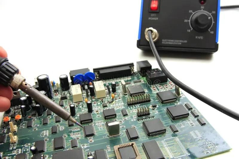 Soldering Circuit Board Stock Image