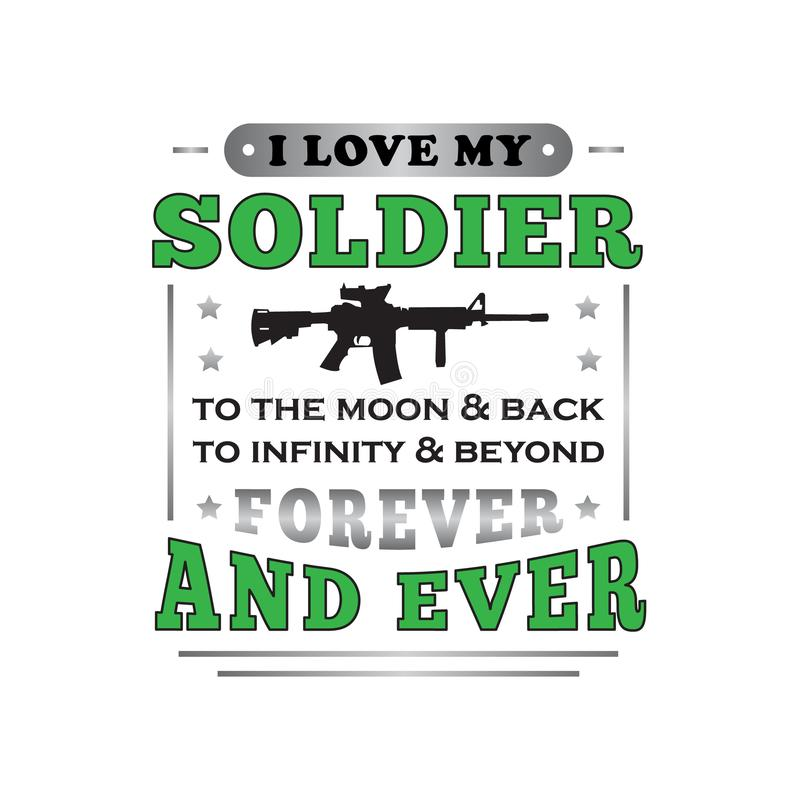 Download I Love Soldier. Military Man In Shape Of A Heart. Vector ...