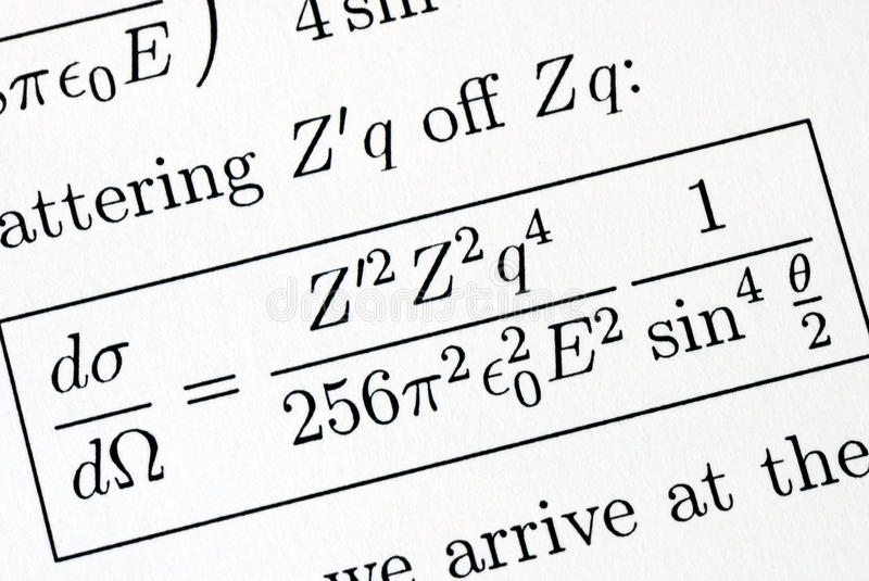 Solve A Complicated Mathematics Question Stock Image