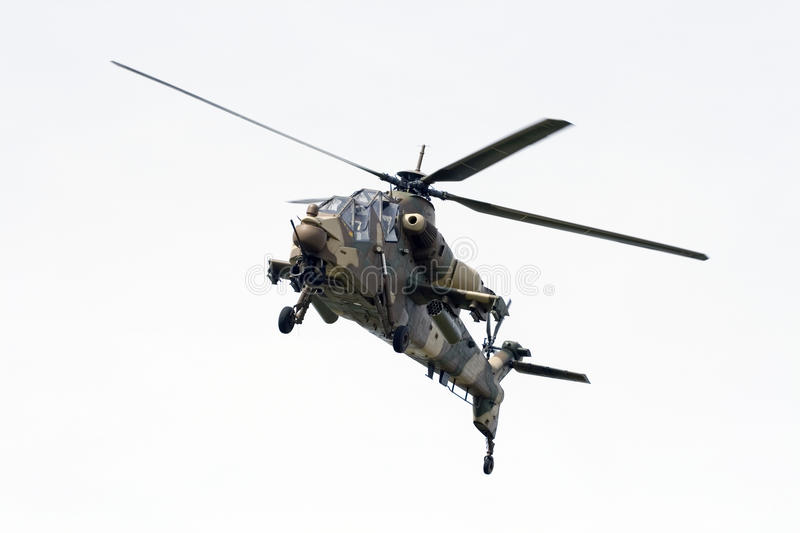 South African Air Force Rooivalk Attack Helicopter Stock