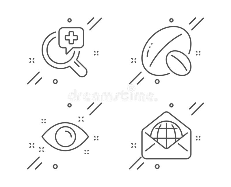 Medicine Icons. Tablets Bottle, Brain, Rx. Stock Vector