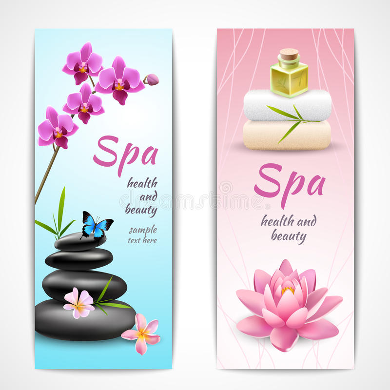 Spa Vertical Banners Stock Vector Illustration Of Element