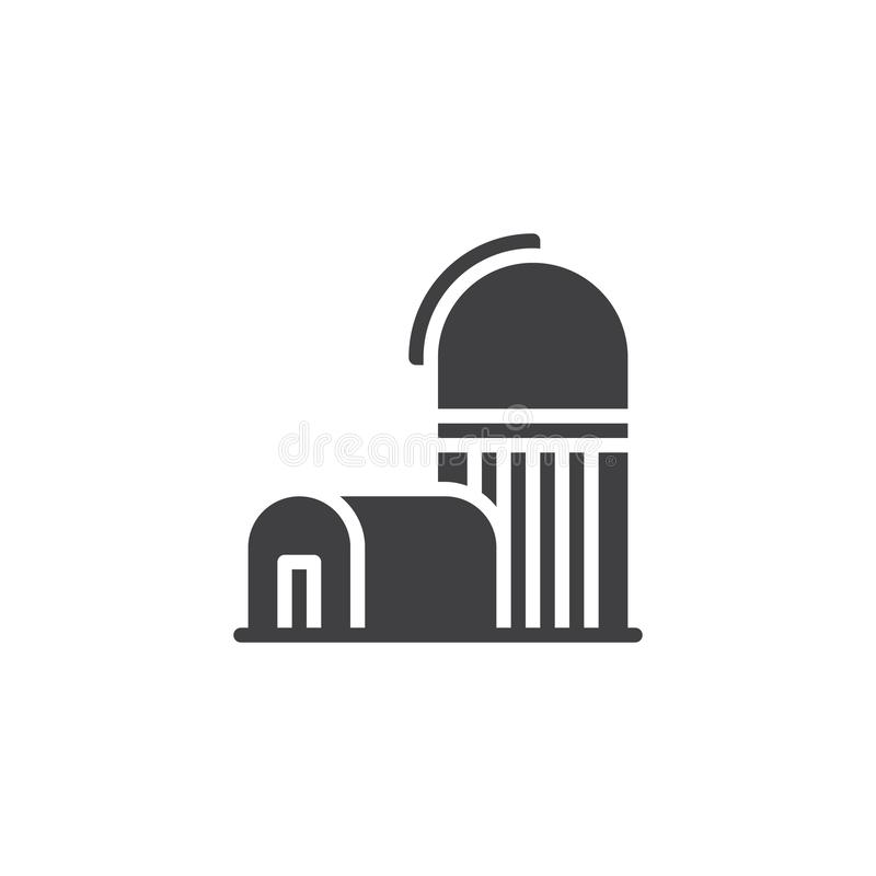 Observatory Telescope Outline Icon Stock Vector