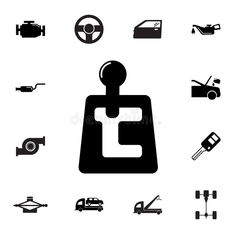 Transmission Outline Icon. Elements Of Car Repair