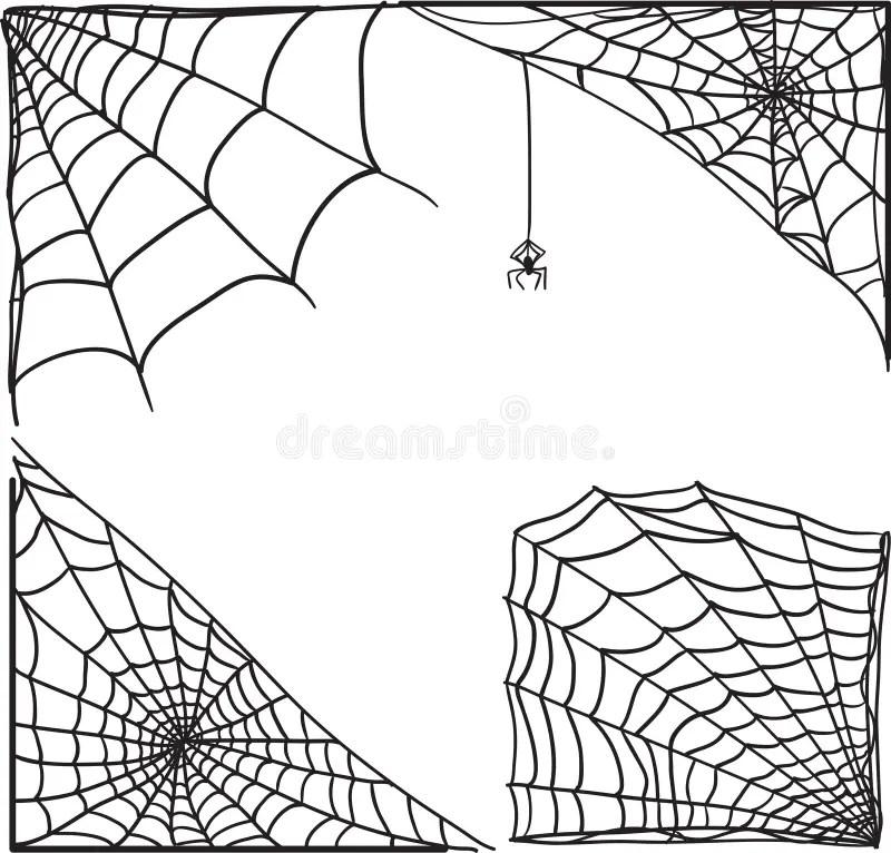 Corner Spider Web Stock Illustration Image Of Spider