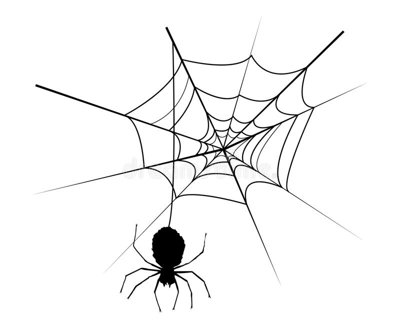 Corner Spider Web Stock Images