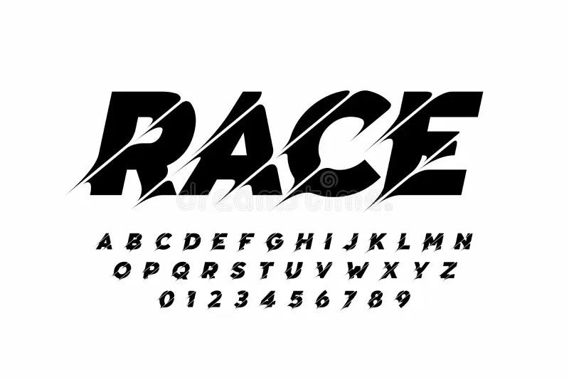 Sport style modern font stock vector. Illustration of