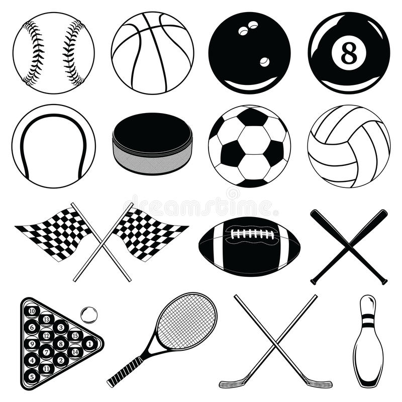 Sports Balls And Other Items Royalty Free Stock
