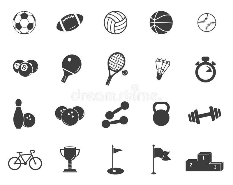 Baseball And Basketball Balls Symbols Set Stock Vector