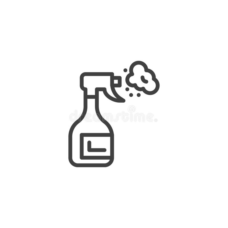 Cleaner spray outline icon stock vector. Illustration of