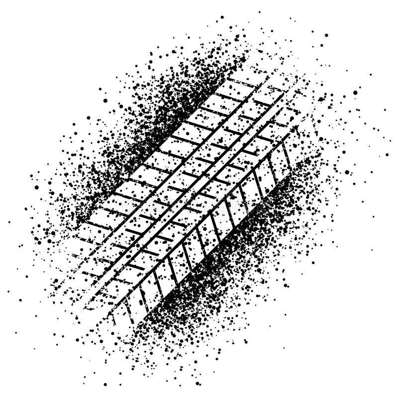 Spray trace of the tyre stock vector. Illustration of