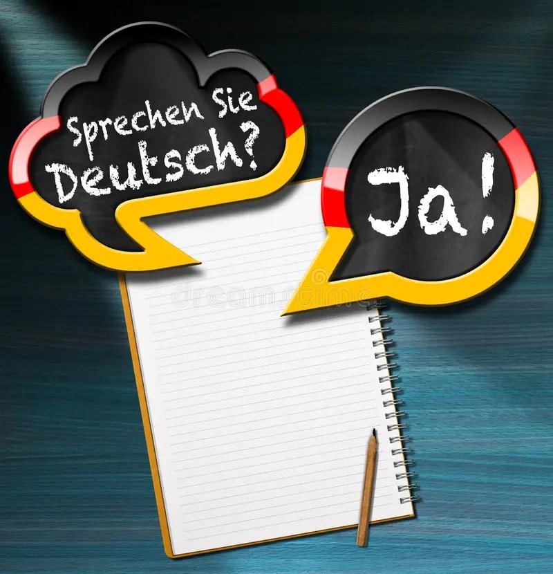 Sprechen Sie Deutsch - Sprache-Blasen Stock Abbildung - Illustration von lernen. gegenteil: 83351395
