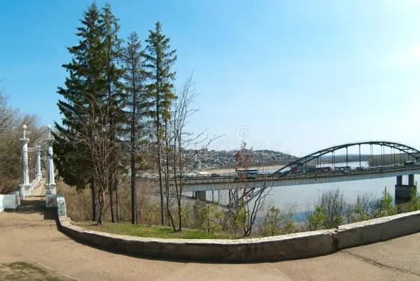 urban landscape with river neva
