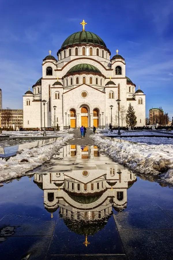St. Sava Temple At Dusk - Belgrade - Serbia Stock Image - Image of column. gold: 40729609