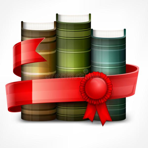 Stack Of Books With Ribbon Stock Vector - 58680895