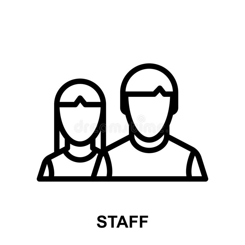 Staff icon stock illustration. Illustration of hotel