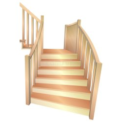 stairs cartoon royalty drawing vector illustration dreamstime