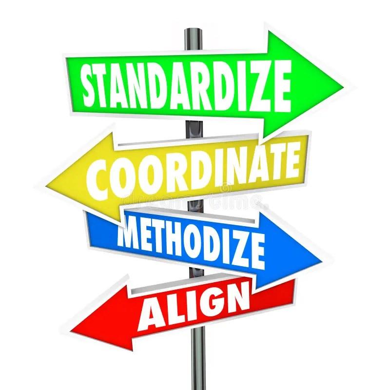 Standardize Coordinate Methodize Align Arrow Signs Stock Illustration - Illustration of consistency, consistent: 50582959