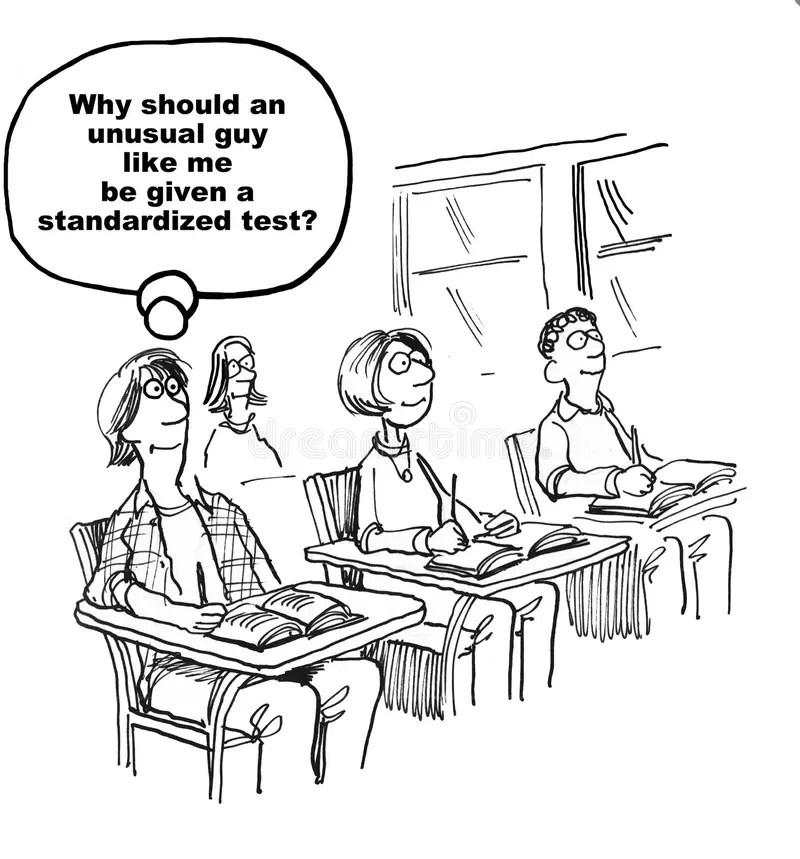 Boy Taking A Test stock illustration. Illustration of