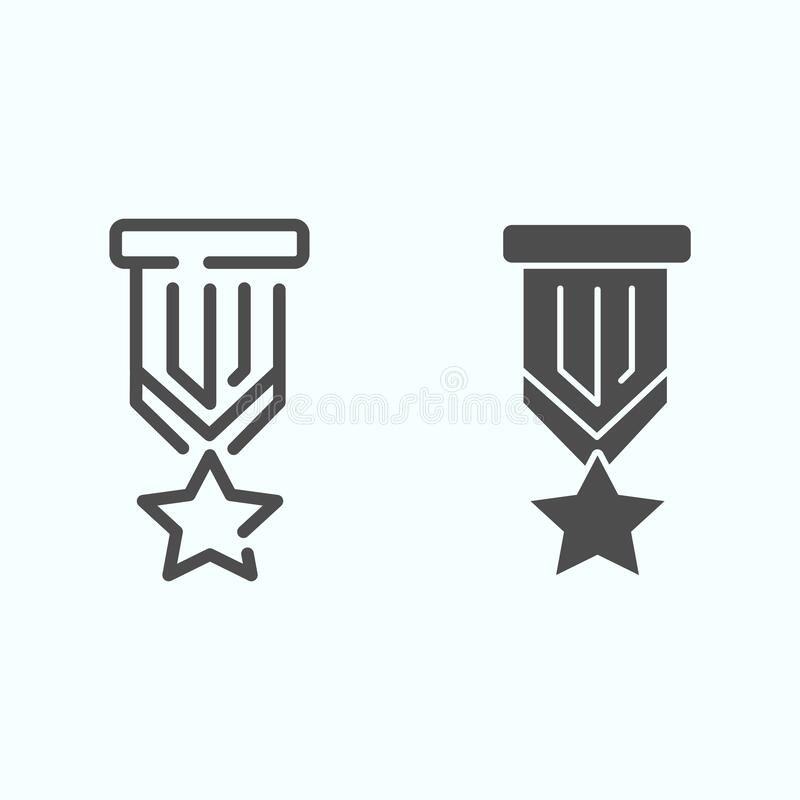 Award, Honor, Medal, Rank, Reputation, Ribbon Glyph Icon
