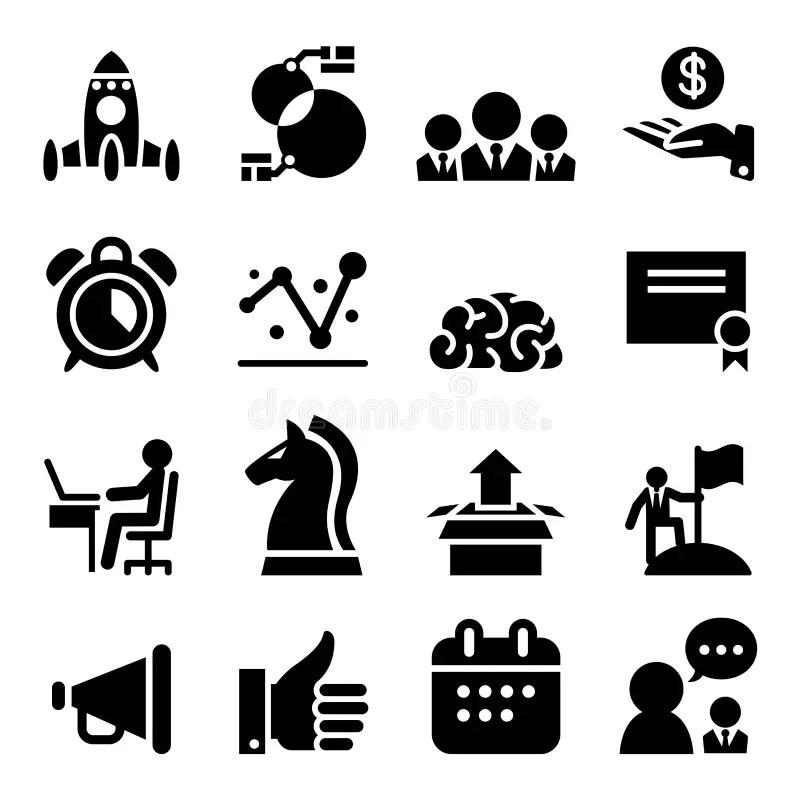 Startup business icon set stock illustration. Illustration