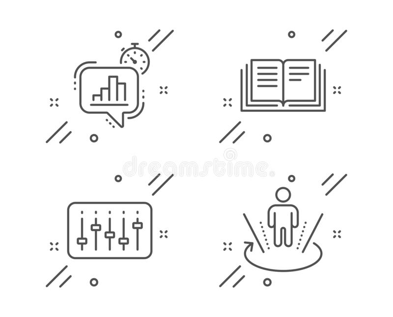 Set Of Statistics, Education And Study Icons. Stock Vector