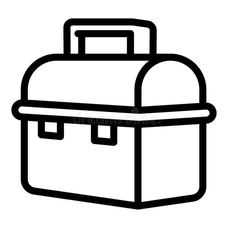 Stainless Steel Food Container Icon Stock Vector