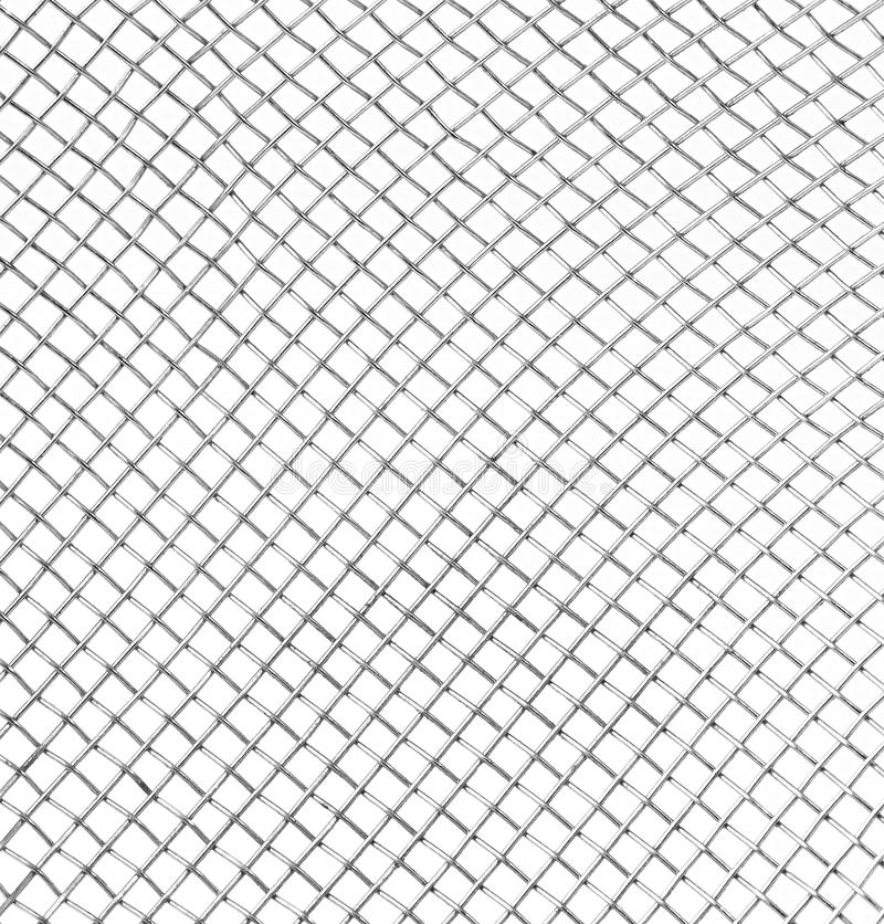 Braided Wire Steel Net In Perspective View Stock