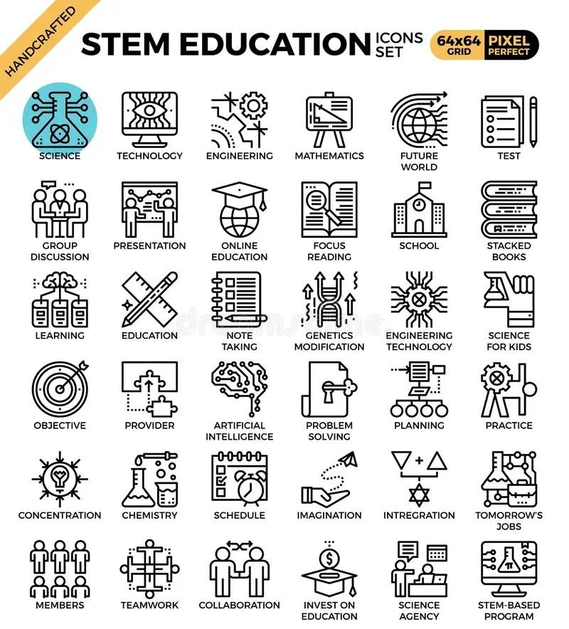 STEM Science,technology,engineering,math Education Stock
