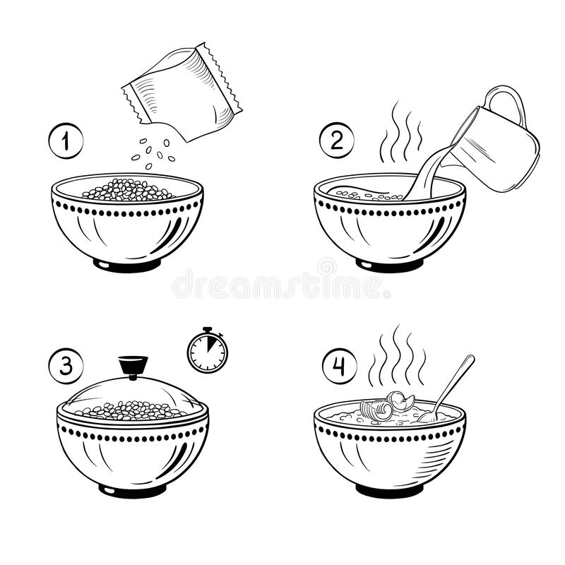 Porridge Pot Stock Illustrations