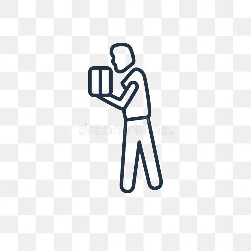Man Lifting Heavy Box Stock Illustrations