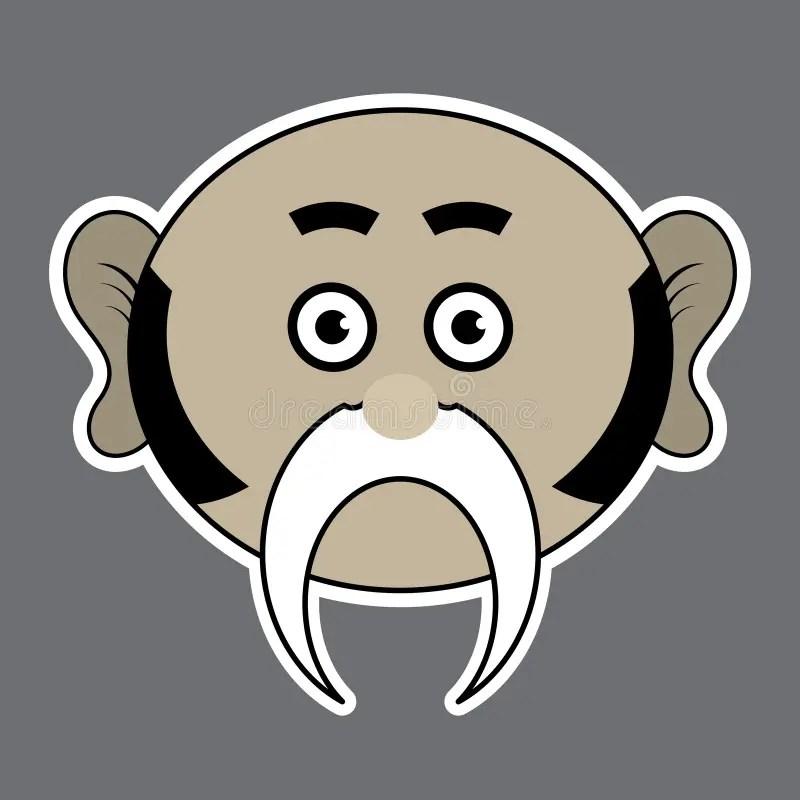 Mustache Evil Guy Cartoon