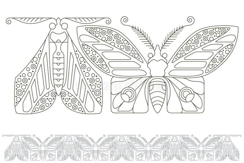 Vector Set Butterflies For Design Invitations