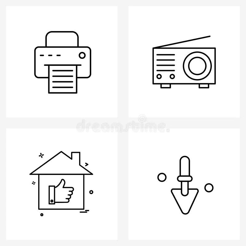 Radio Panel Stock Illustrations
