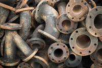 Storage Of Sewage Pipe Fittings, Cast Iron Pipe Fittings ...