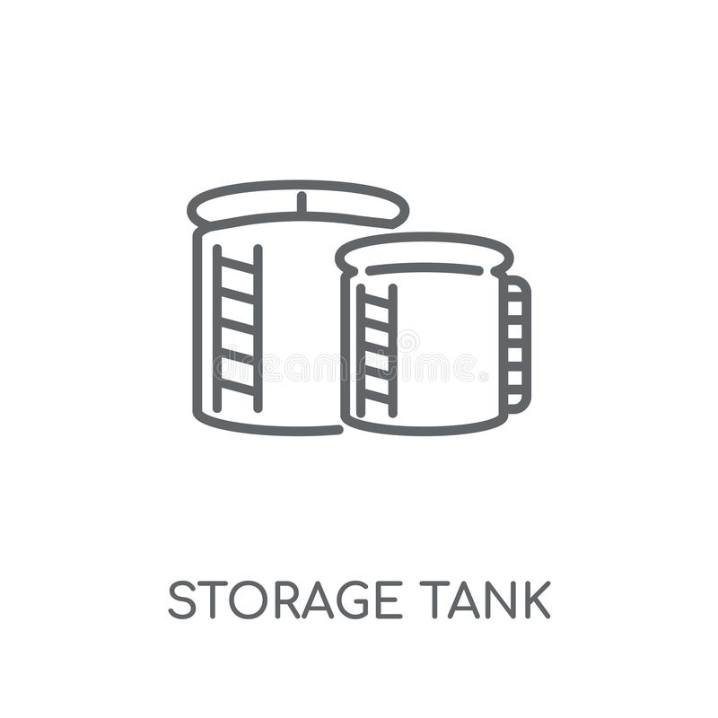 Crude Oil Storage Tanks And A Water Reservoir Stock Vector