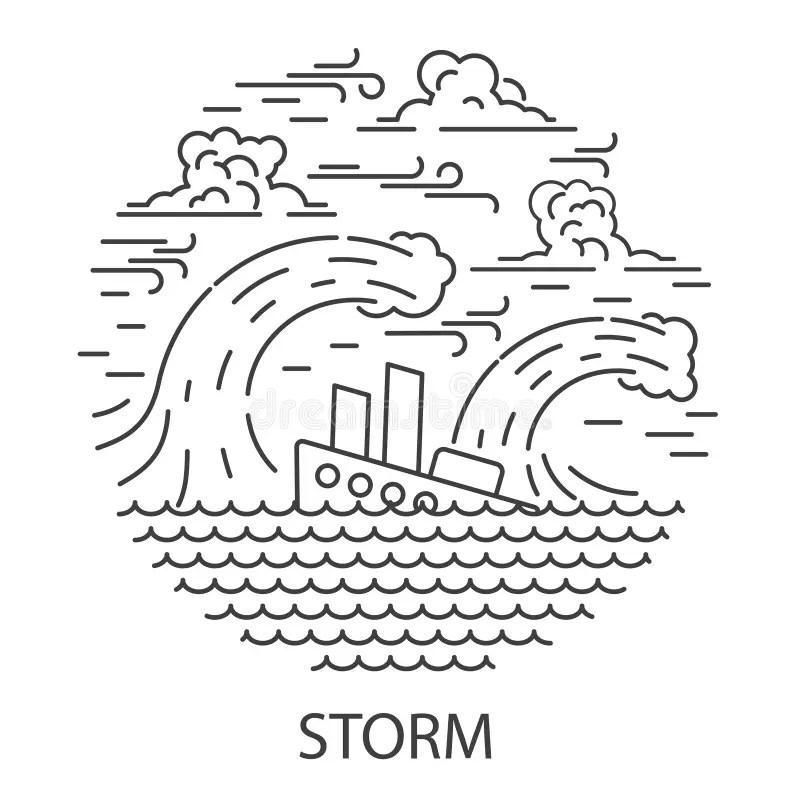 Storm Damage Stock Illustrations