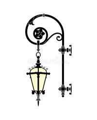 Street lamp stock vector. Illustration of deco, silhouette ...