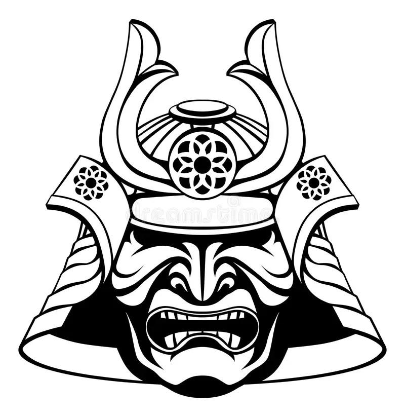 Samurai Mask stock vector. Illustration of head, oriental