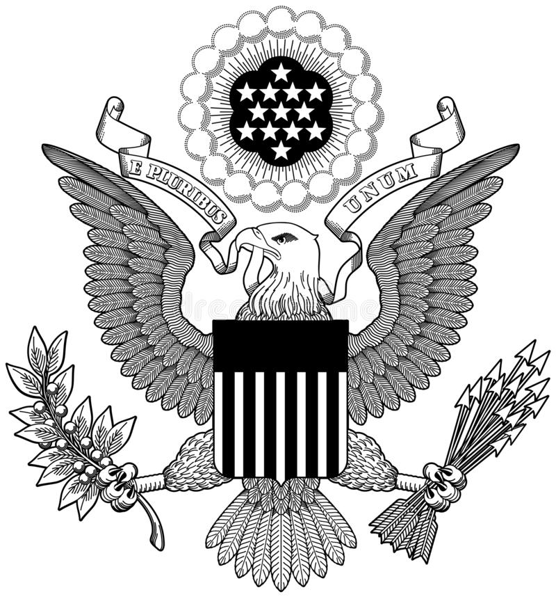 Great Seal Of United States Stock Illustration
