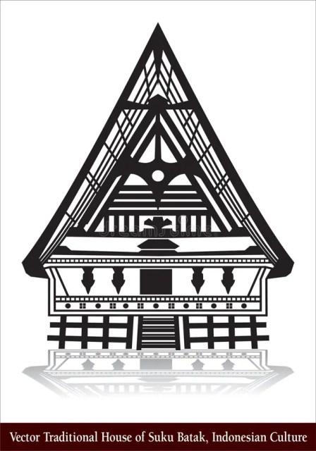 Cara menggambar rumah adat batak