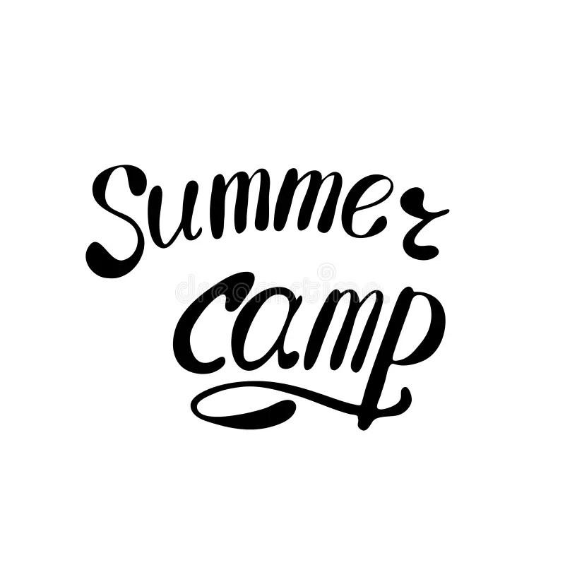 Kid S Summer Camp Poster Or Flier. Stock Vector