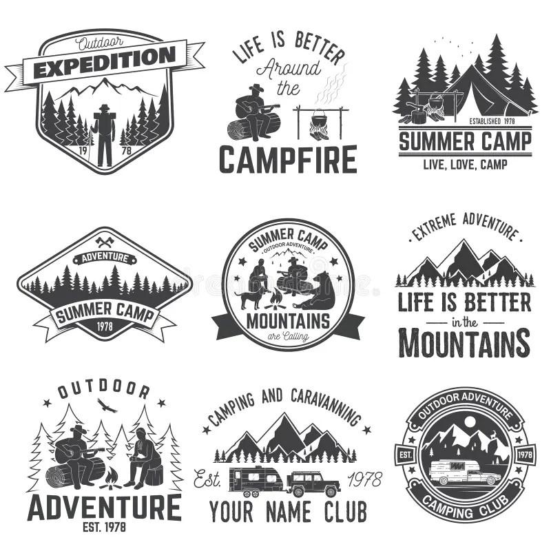 Summer Camp Stock Illustrations
