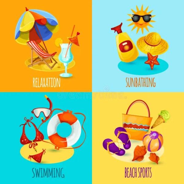 Summer Holidays Set Stock Vector - 52133037