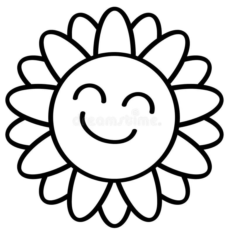 Sunflower silhouette stock vector. Illustration of digital