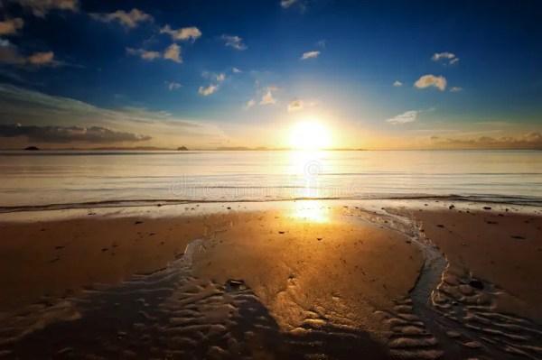 sunrise sea beach sky landscape