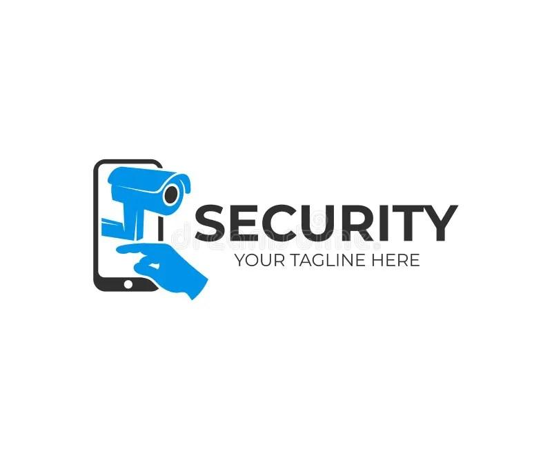 Security Camera Logo Template. CCTV Camera Vector Design